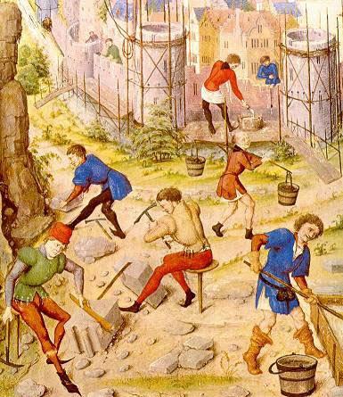 albaniles medievales